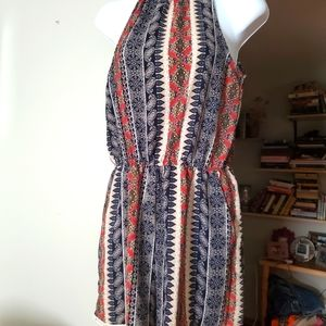 High neck romper with pockets